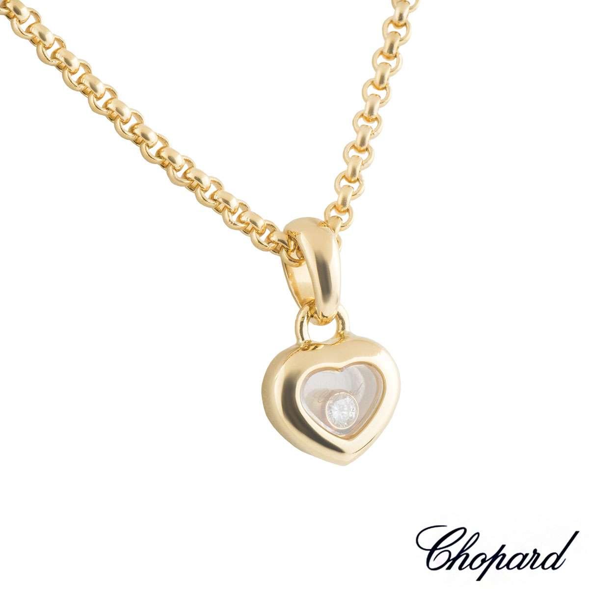 Chopard Yellow Gold Happy Diamonds Pendant79/4854